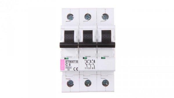 Wyłącznik nadprądowy 3P C 6A 10kA AC ETIMAT10 002135712