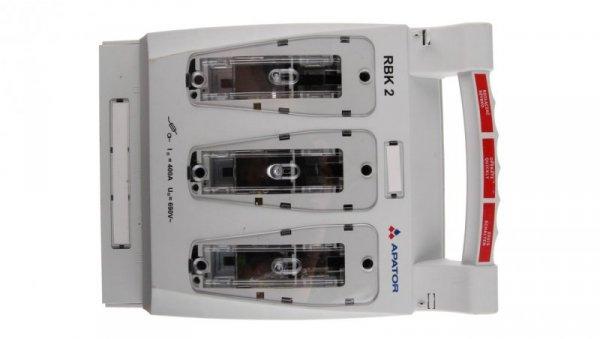 Rozłącznik izolacyjny bezpiecznikowy 400A RBK 2 pro /zaciski mostkowe 50-185mm2/ 63-811685-011