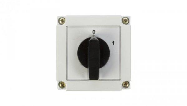 Łącznik krzywkowy 0-1 1P 10A w obudowie 4G10-90-PK 63-840392-011