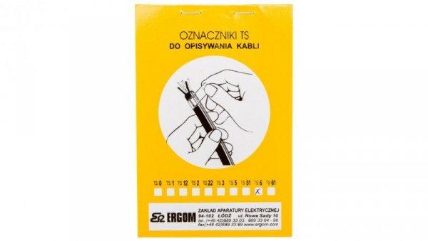 Oznacznik do opisywania ręcznego TS 6 biały E04ZP-02010100600 /40szt./
