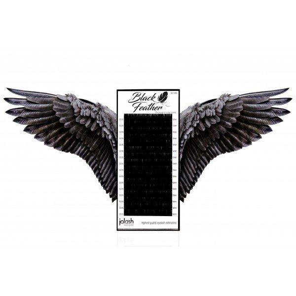 Rzęsy Black Feather Mix skręt M