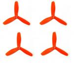 Śmigła DAL T5045 V2 - orange - Tri-blade - 5x4,5x3 - 2xCW/2xCCW - DAL-PROP 4 szt