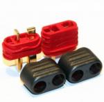 Wtyki T (DEAN) z osłoną - Konektor Dean - kompletne wysoko prądowe mini złącze - 1 para