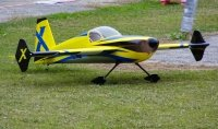 Model akroacyjny Slick 580 EXP - Yellow/Blue 1,87m rozpiętości ARF konstrukcja klasyczna