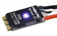 Regulator HAKRC BLHeli_32 Bit 35A 2-5S ESC Built-in LED Support Dshot1200 Multishot do dronów wyścigowych