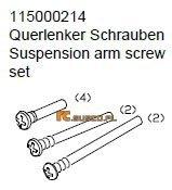 Suspension arm screw set - Ansmann Virus