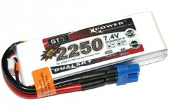 Akumulator Li-po Dualsky 2250 mAh 45C/6C 7.4V
