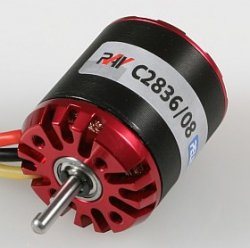 Silnik bezszczotkowy RAY C2836/08