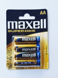 Bateria alkaliczna MAXELL SUPER ALKALINE 1,5V AA LR6 4szt.