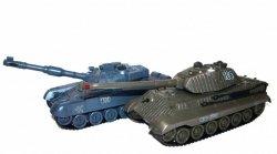 Zestaw wzajemnie walczących czołgów Russian T90 v2 i German King Tiger v2 2.4GHz 1:28 RTR