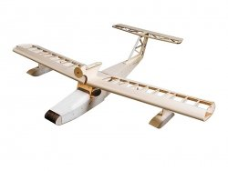 Samolot Seaplane Balsa KIT (1600mm) + Motor + ESC + 4x Serwo