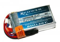 Akumulator Li-po Dualsky 1300 mAh 20C 3S1P 11.1V