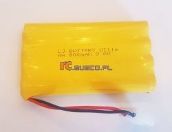 Akumulator NI-MH 9.6V 800mAh