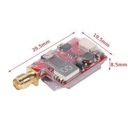 Nadajnik FPV Mini TS5823LS 5,8GHz 25-600mW - 48CH - regulacja mocy WYŚWIETLACZ
