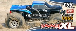 HPI RTR SAVAGE XL 5.9 WITH 2.4GHz AND GIGANTE TRUCK BODY 2,4GHZ
