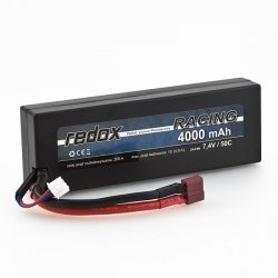 Redox RACING 4000 mAh 7,4V 50C - samochodowy pakiet LiPo