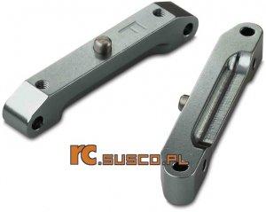 Aluminiowe tylne mocowania wahaczy.