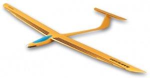 Motoszybowiec RCH - Baracuda ARF rozpiętość 300cm kadłub laminat, skrzydła kryte balsą laminatem i folią.