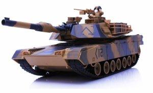 M1 Abrams ASG RTR 1:24 Strzela kulkami BB- Żółty