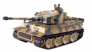 German Tiger ASG 1:24 27MHz/40MHz RTR Strzela kulkami BB- Zielony