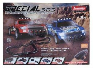 Zestaw Slot Cars Superior 505 1:43 - 600cm, 3 mosty, ściana, 240V