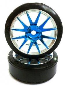 Koła do driftu 1/16 2szt. - 09003PB niebieskie