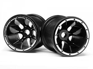 Black Wheels 2 Pcs (Blackout MT)