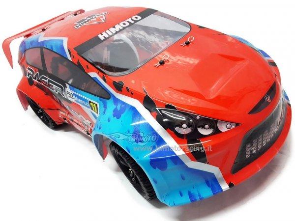 Model HiMoto RallyX 1:10 4WD RTR szczotkowy (E10XR) niebieski