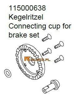 Connecting cup for brake set - Ansmann Virus