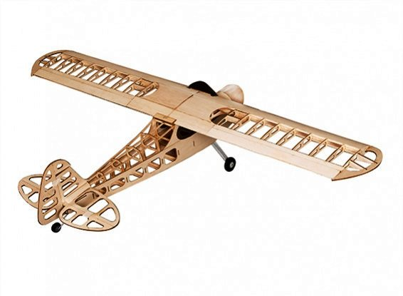 Samolot Piper J-3 Balsa KIT (1180mm) + Silnik + ECS + 4x Serwo