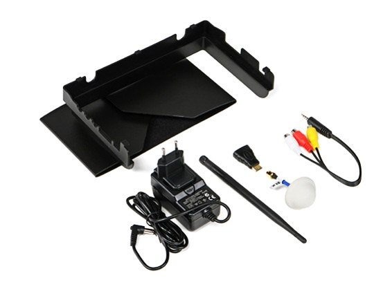 """Monitor FPV DUO Picture in Picture Dual Receiver (5.8GHz, 32CH, 800x480, 8"""", HDMI, 7.4V/2250mAh)"""