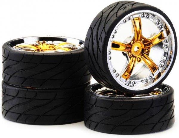 Koła Low Profil Rockstar gold chrome  Ansmann Racing 4 szt.