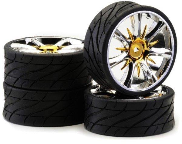 Koła Low Profil Twister gold chrome Ansmann Racing 4 szt.