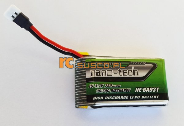 Akumulator Turnigy nano-tech 3,7V 750mah 1S 35*70C Lipo Pack