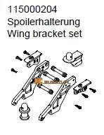 Wing bracket set - Ansmann Virus
