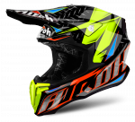 AIROH TWIST IRON ORANGE GLOSS Kask Off-road