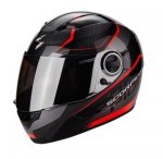 SCORPION KASK EXO-490 VISION BLACK-NEON- RED