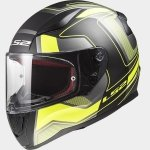 KASK LS2 FF353 RAPID CARRERA B/HI VIS YELLOW