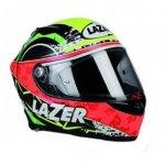 Kask motocyklowy LAZER OSPREY carbon/żółty/czerw/ziel.