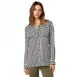 KOSZULA FOX LADY JAIL BREAK WOVEN BLACK/WHITE
