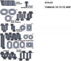 ZESTAW ŚRUB KEITI DO YAMAHA 10-13 YZ450F