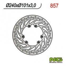 NG857 TARCZA HAMULCOWA HONDA CR 125/250, CRF 250/450 02-14 (240X101X3) TURBINA