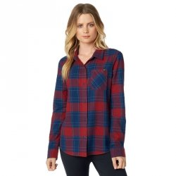 KOSZULA FOX LADY KICK IT FLANNEL DARK RED