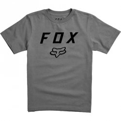 FOX T-SHIRT  JUNIOR LEGACY MOTH HEATHER GRAPHITE