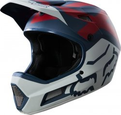 KASK ROWEROWY FOX RAMPAGE COMP PREME BLUE/RED