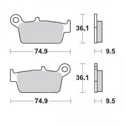 KLOCKI HAMULCOWE KH131 METALICZNE: 21 HONDA: TYŁ CR80/85, CR125/250/500 <2001, XR250/400/600/650, KAWASAKI: TYŁ KX12 MOTO-MASTER