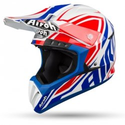 AIROH KASK OFF-ROAD SWITCH IMPACT BLUE GLOSS