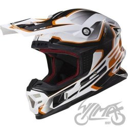 KASK LS2 MX456 LIGHT COMPASS WHITE ORANGE