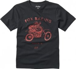 T-SHIRT FOX JUNIOR BRIGADE BLACK