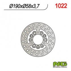 NG1022 TARCZA HAMULCOWA APRILIA 50 SKUTER (190x58x3,7)